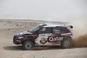 Nasser Saleh Al-Attiyah and Matthieu Baumel hold a 10.4 second lead after day one in Qatar_ - Copy