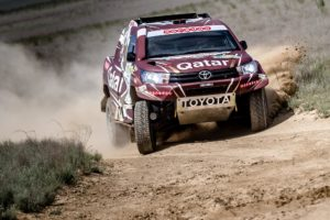 Nasser Saleh Al-Attiyah in Rally Kazakhstan action.